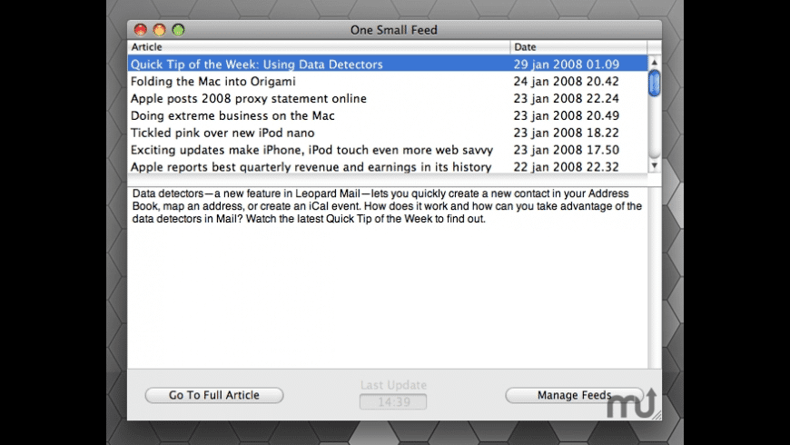 One Small Feed for Mac - review, screenshots
