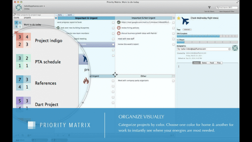 Priority Matrix for Mac - review, screenshots