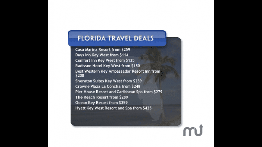 Florida Hotels Travel Deals for Mac - review, screenshots
