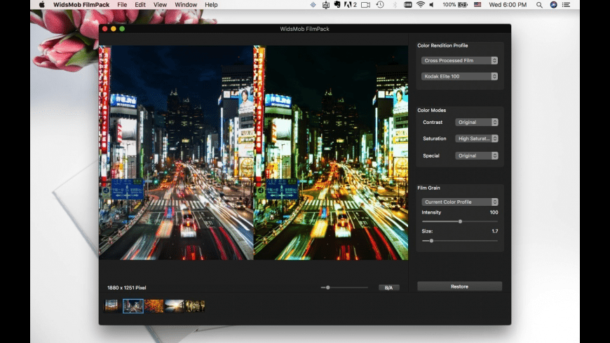 WidsMob FilmPack for Mac - review, screenshots