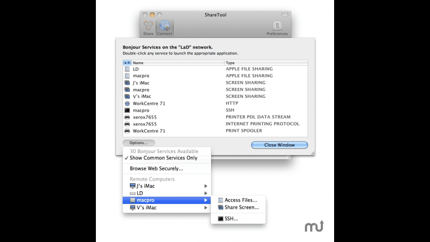 ShareTool for Mac - review, screenshots
