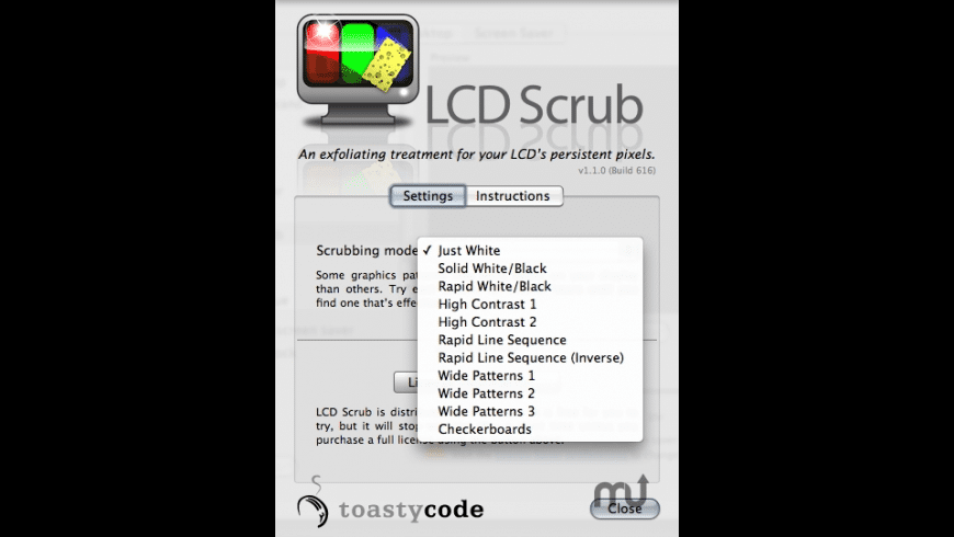LCD Scrub for Mac - review, screenshots