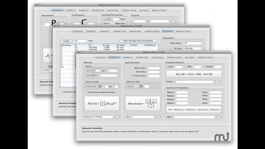 Statistics Pro for Mac - review, screenshots