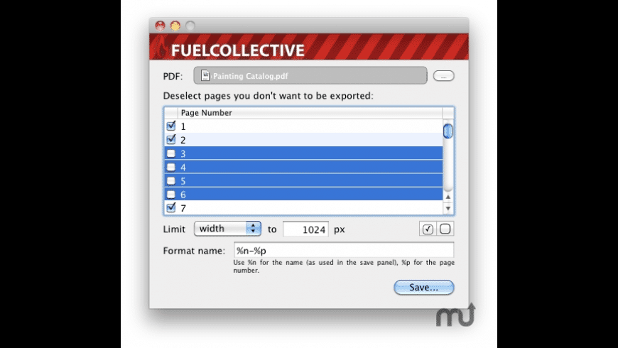 PDF2Image for Mac - review, screenshots