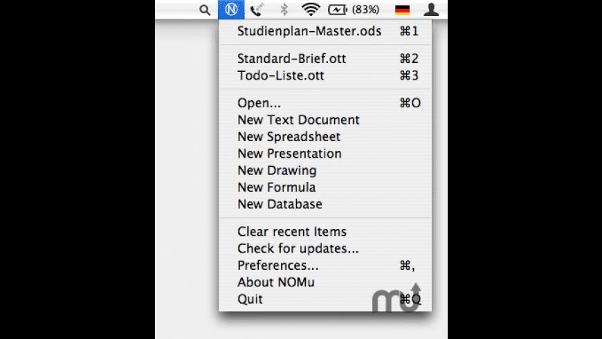 NOMu for Mac - review, screenshots