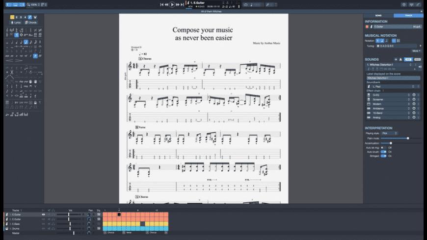Guitar Pro for Mac - review, screenshots