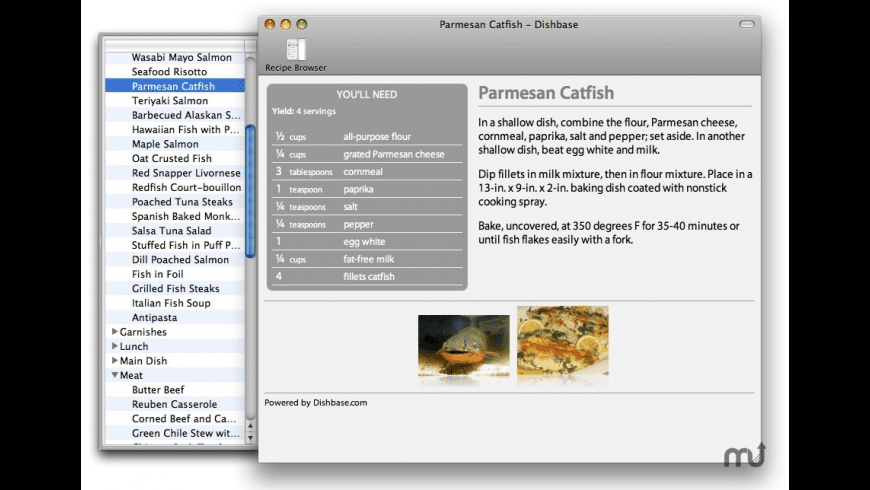 Dishbase for Mac - review, screenshots
