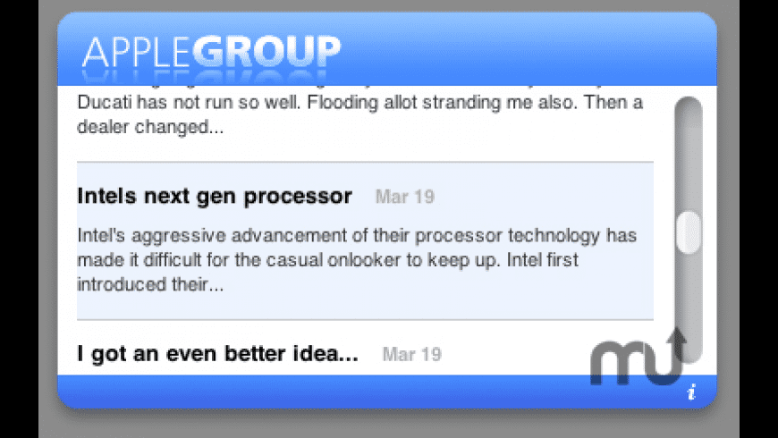 Apple-Group Widget for Mac - review, screenshots