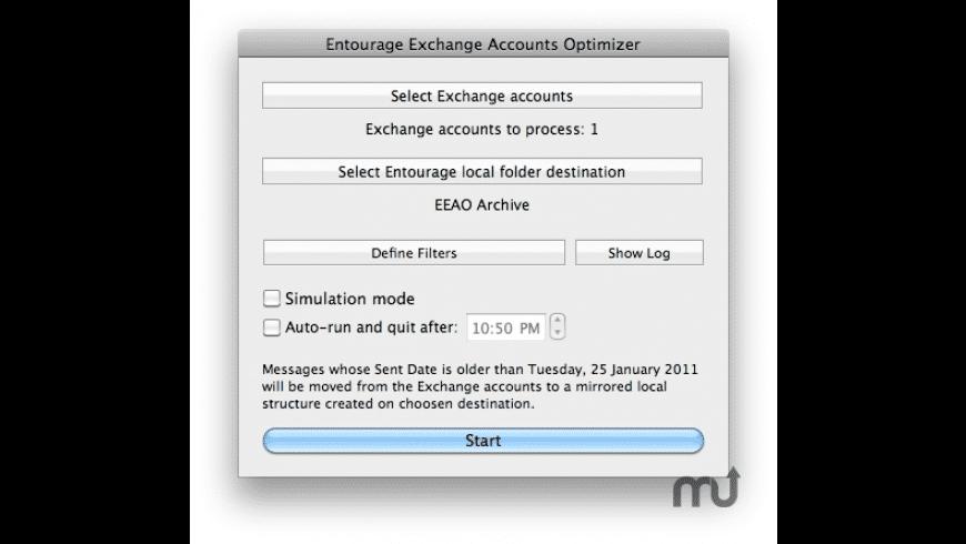Entourage Exchange Accounts Optimizer for Mac - review, screenshots