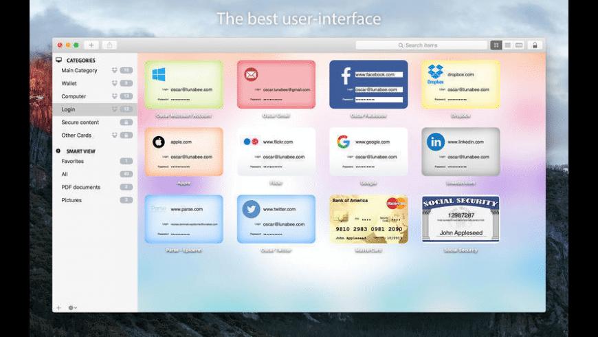 oneSafe for Mac - review, screenshots