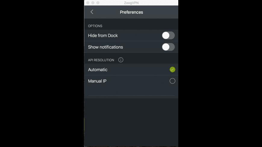 ZoogVPN for Mac - review, screenshots