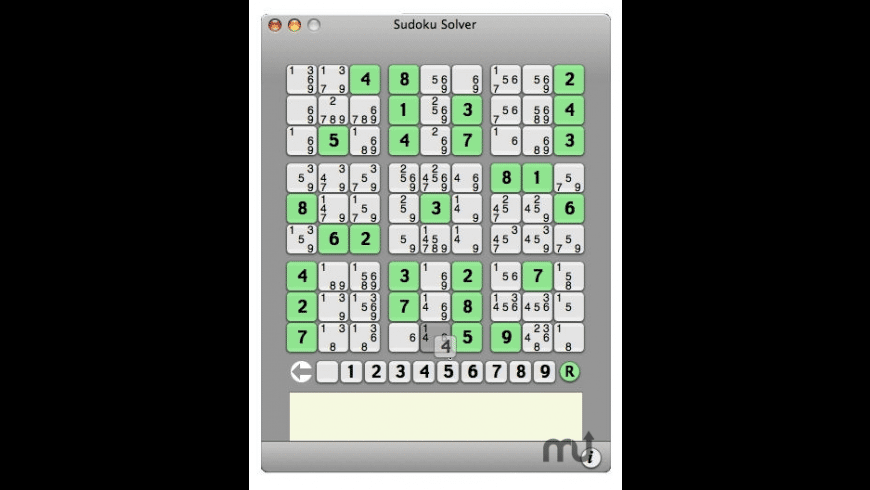 Sudoku Solver for Mac - review, screenshots