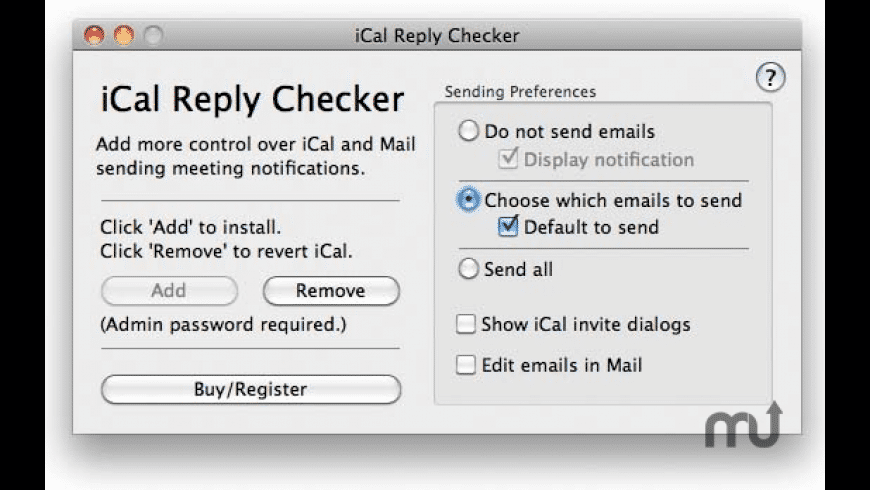 iCal Reply Checker for Mac - review, screenshots