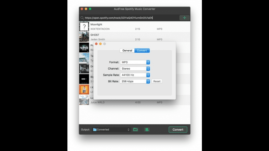 AudFree Spotify Music Converter for Mac - review, screenshots