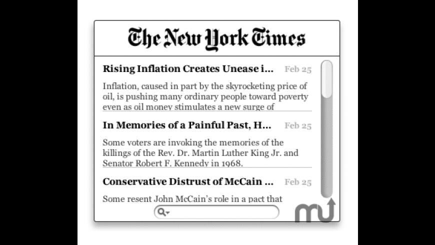 NYT Widget for Mac - review, screenshots