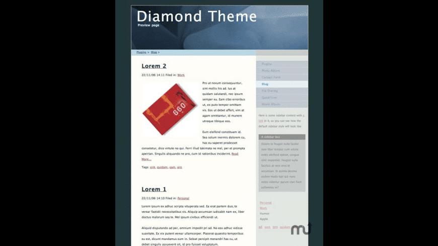 Diamond Theme for Mac - review, screenshots