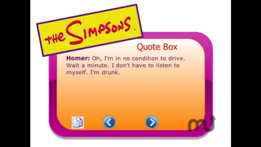 The Simpsons Quote Box for Mac - review, screenshots