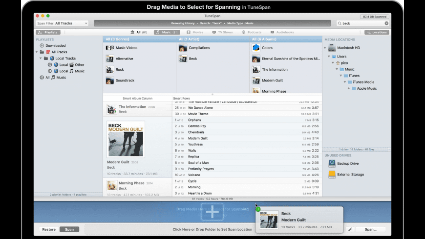 TuneSpan for iTunes for Mac - review, screenshots