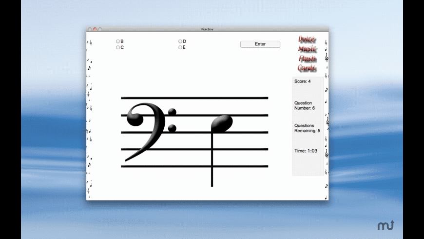 Dolce Music Flash Cards for Mac - review, screenshots