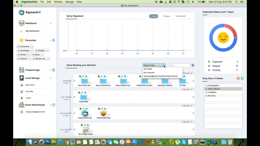OrganizerMax for Mac - review, screenshots