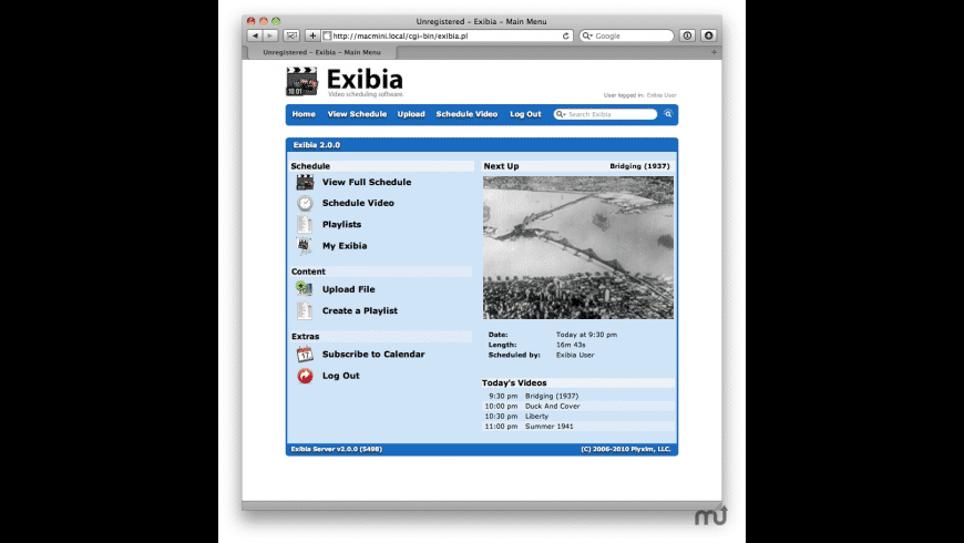 Exibia for Mac - review, screenshots