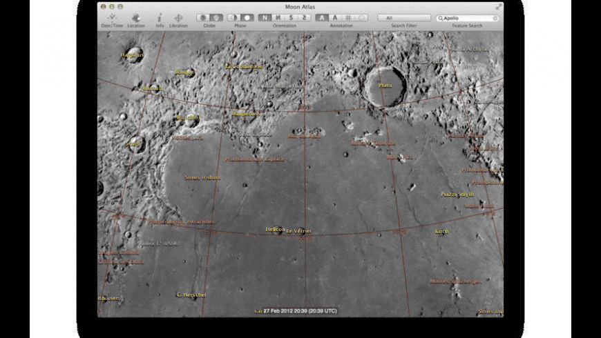Moon Atlas for Mac - review, screenshots