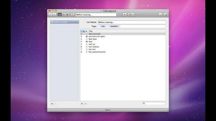 BayCard for Mac - review, screenshots