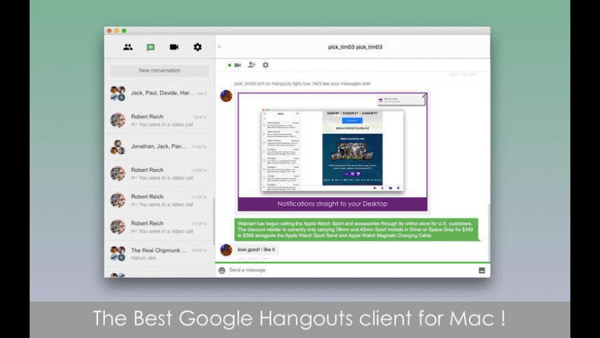 Chatty for Google Hangouts for Mac - review, screenshots