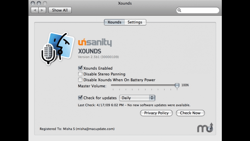 Xounds for Mac - review, screenshots