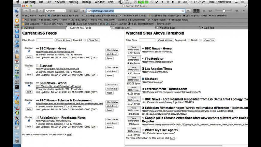 Lightning for Mac - review, screenshots