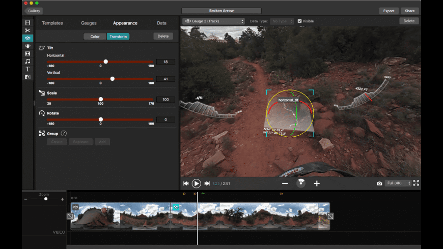 Garmin VIRB Edit for Mac - review, screenshots