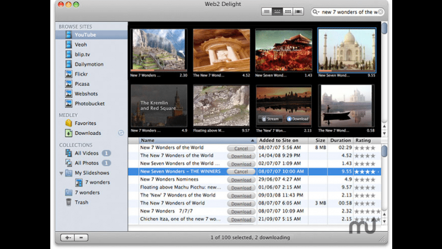 Web2 Delight for Mac - review, screenshots