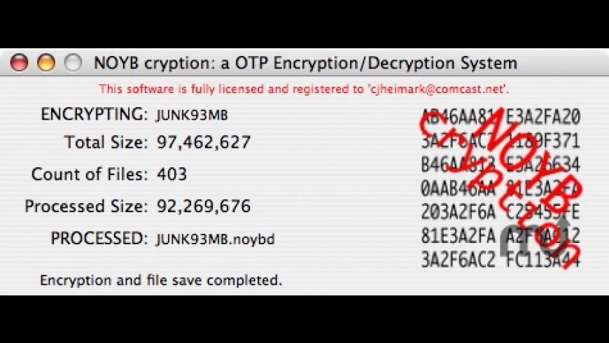 NOYBcryption for Mac - review, screenshots