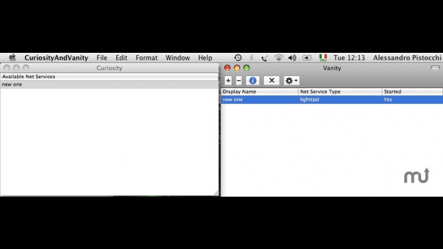 CuriosityAndVanity for Mac - review, screenshots