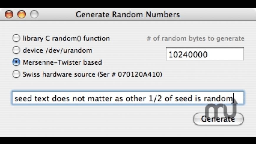 GenRan for Mac - review, screenshots
