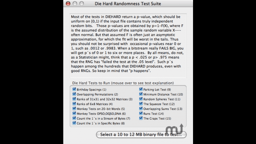 DieHardTest for Mac - review, screenshots