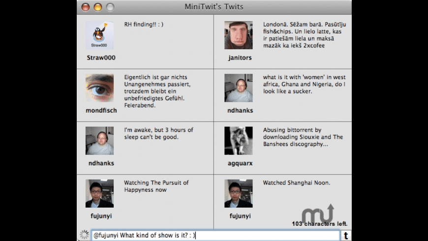 MiniTwit for Mac - review, screenshots