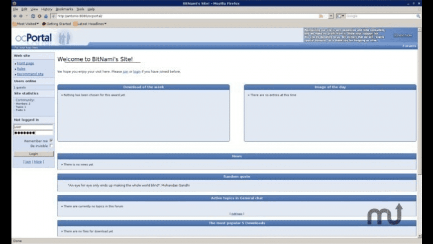 BitNami ocPortal Stack for Mac - review, screenshots