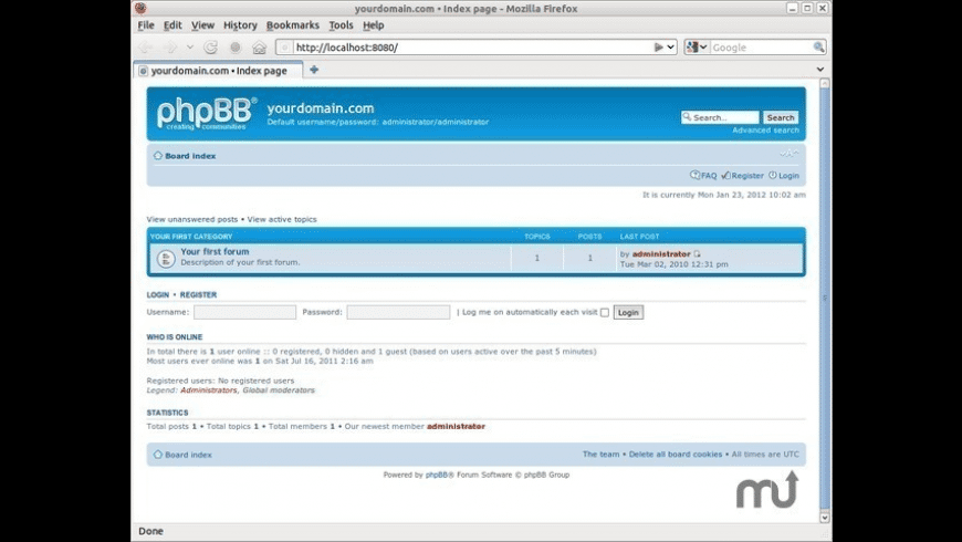 BitNami phpBB Stack for Mac - review, screenshots