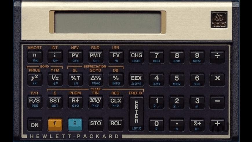 HP-12W for Mac - review, screenshots