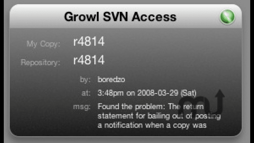 SVN Notifier for Mac - review, screenshots