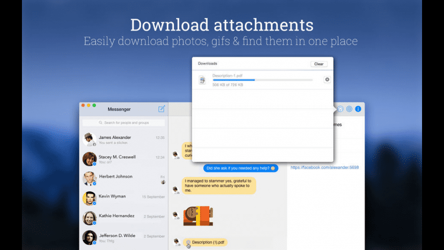 MessengerPro for Mac - review, screenshots