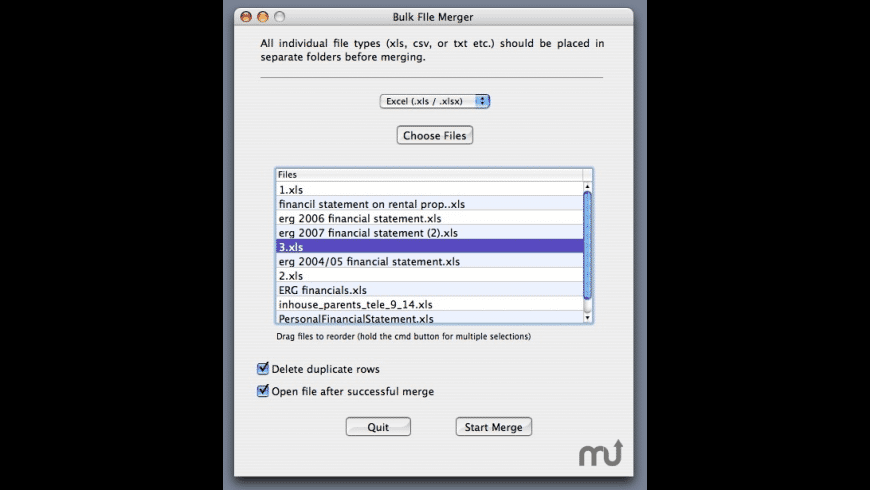 Bulk File Merger Pro for Mac - review, screenshots