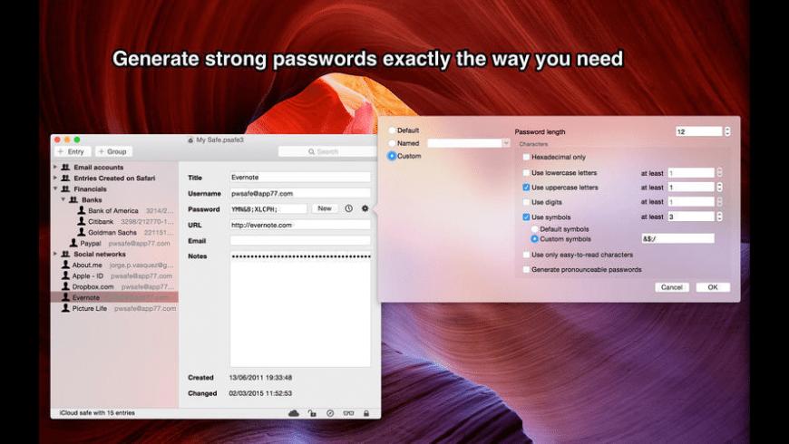 pwSafe for Mac - review, screenshots
