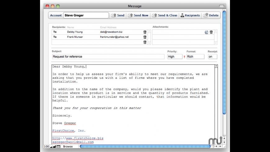 Mailit 7 for Mac - review, screenshots