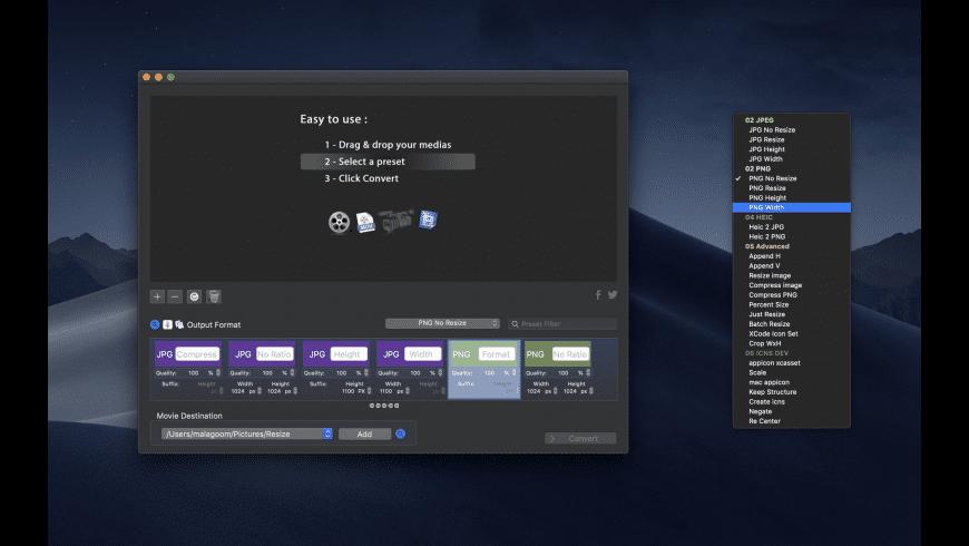 Resize for Mac - review, screenshots