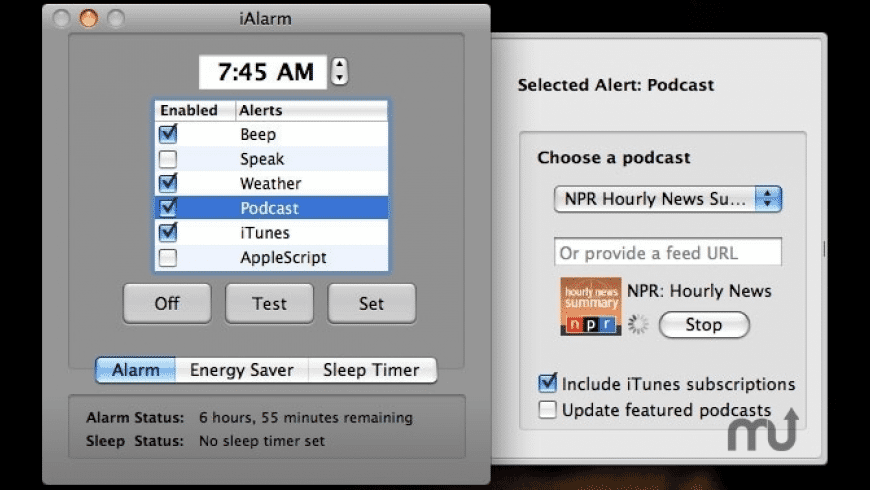 iAlarm for Mac - review, screenshots