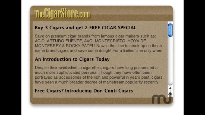 TheCigarStore.com Widget for Mac - review, screenshots