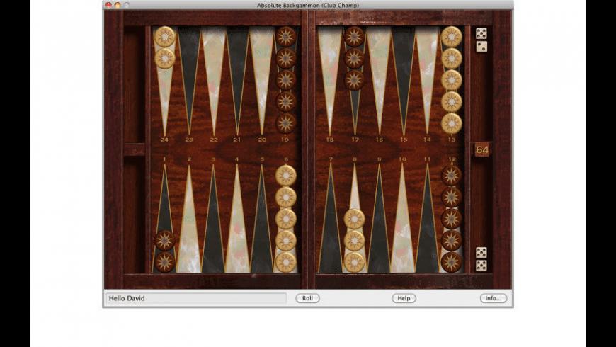 Absolute Backgammon for Mac - review, screenshots