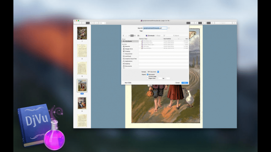 DjVuReader Ex for Mac - review, screenshots